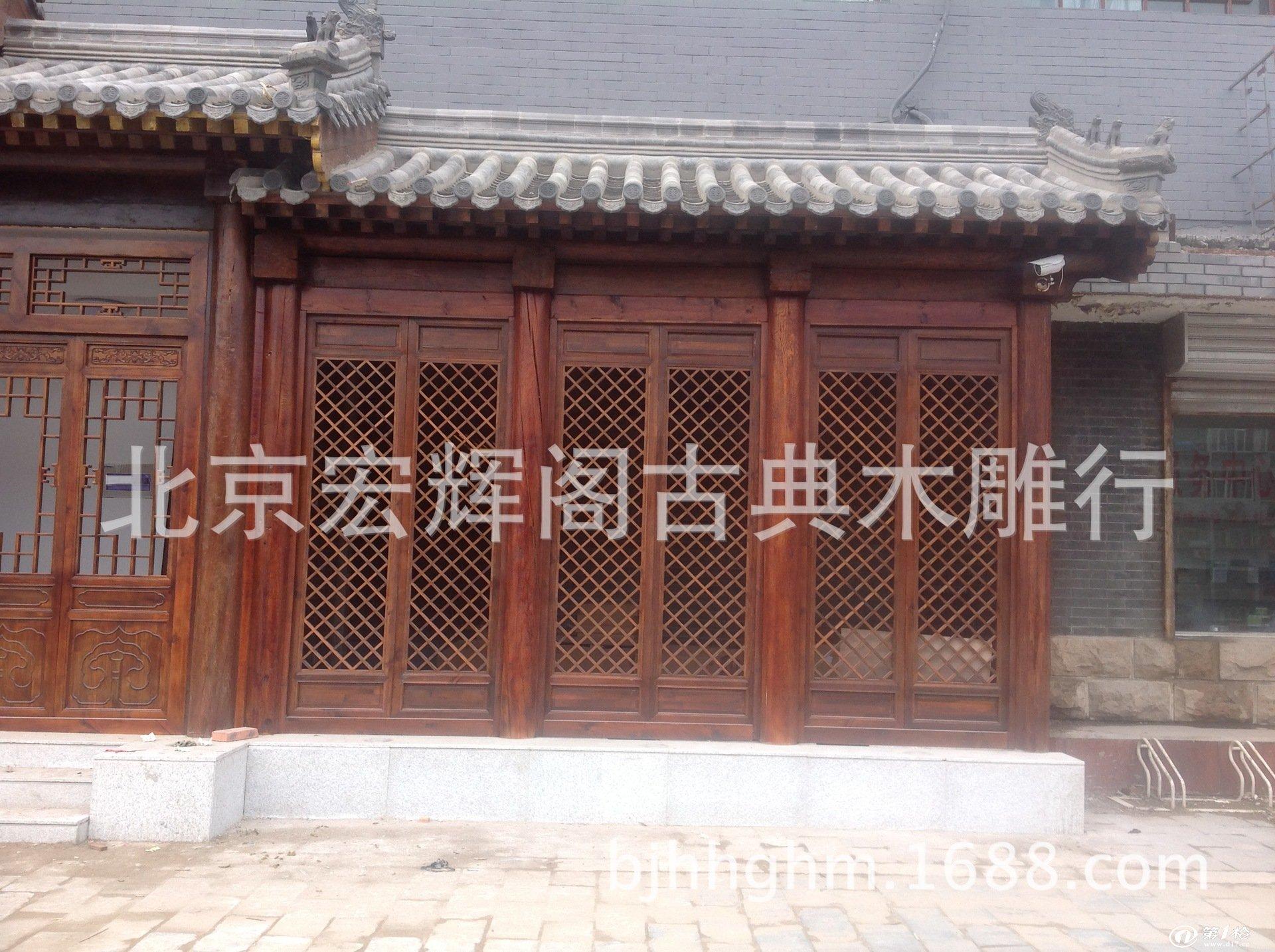 古建门楼 酒店门脸门楼 仿古门楼订做 中式装修 北京古建筑制作厂图片