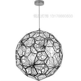 意大利经典设计 后现代时尚不锈钢蚀刻多面球钻石吊灯灯饰灯具