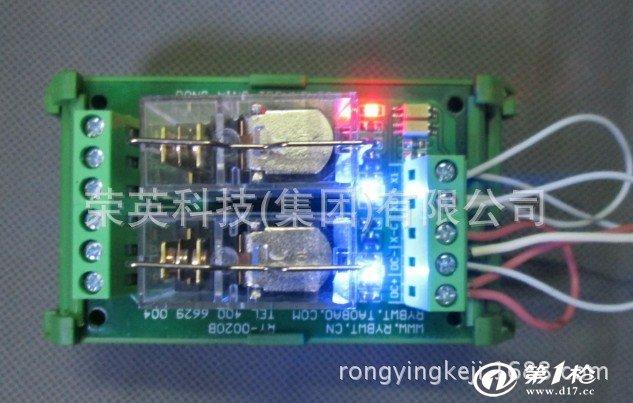 RY-B系列PLC放大板有:1/2/3/4/5/6/7/8路 产品特点如下 1、采用欧姆龙继电器带继电器插座。 2、采用日本东芝双向光耦隔离控制高低电平都可以触发。 3、采用标准35mm导轨壳体方便安装) 4、采用转换式继电器,共有公共,常开,常闭三个端子。 5、控制与输出都采用升降式端子方便接线。 6、继电器工作电压:有DC5V、9V、12V、24V,默认24V,需要其他电压请联系店家或者留言。 7、输出触点电流:277VAC 10A 30VDC 10A 8、电源指示灯和输出指示灯 9、触发方式: