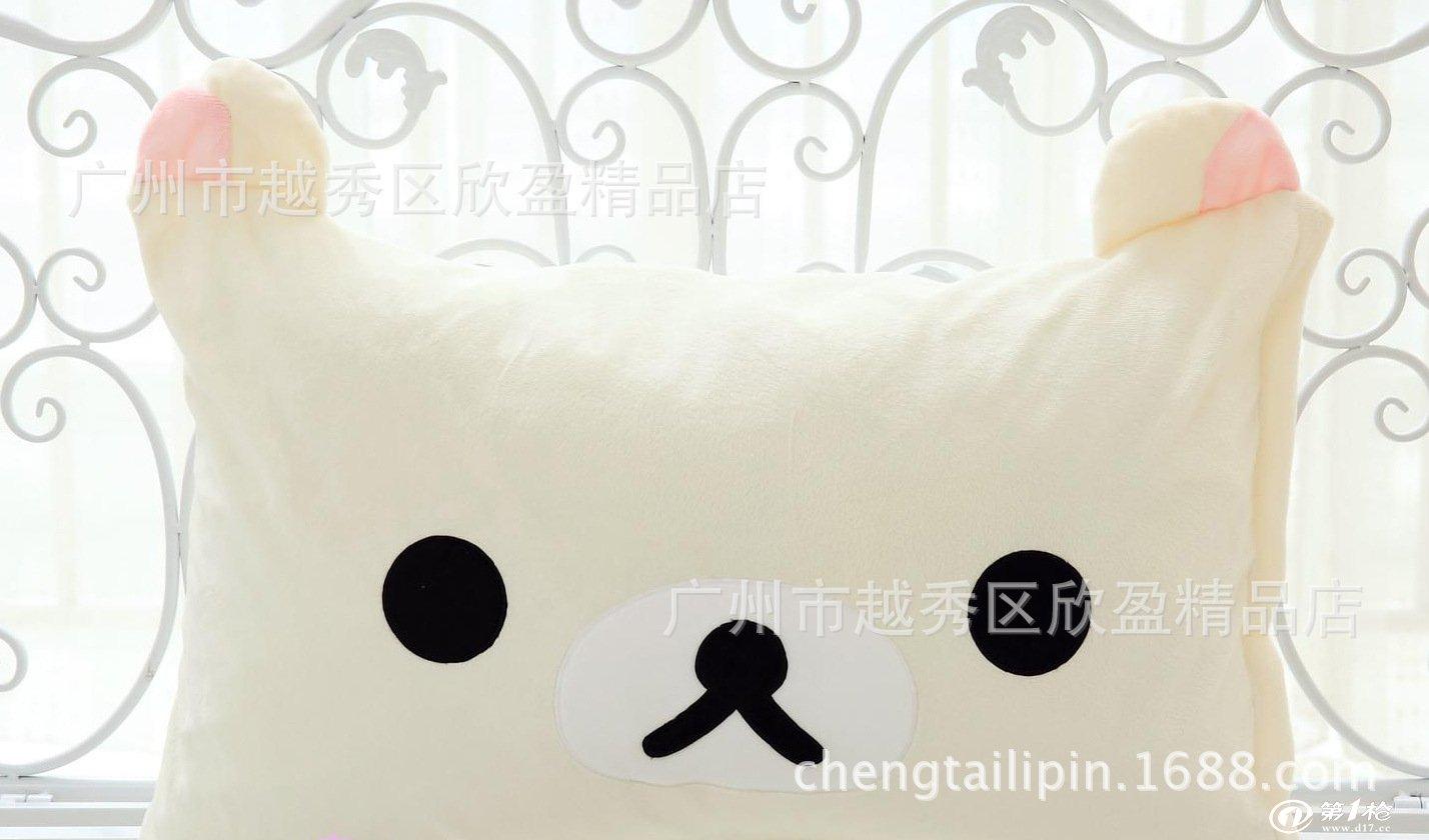 卡通可爱超萌皇冠大黄鸭 青蛙 熊猫 小丸子 单人枕套