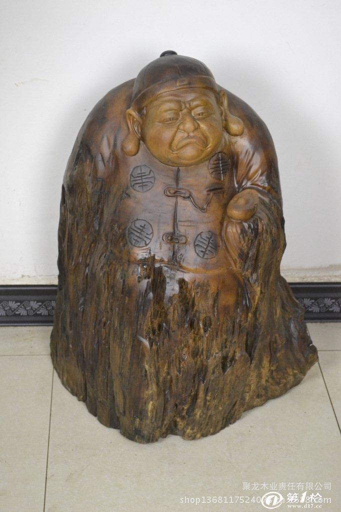 礼品 其他工艺品 木质,竹质工艺品 根雕人物 木雕工艺品摆件 楠木地主