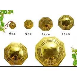 批发黄铜八卦镜 凸镜 多型号 铜镜 金属工艺品 道教佛教用品
