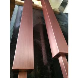 拉丝红古铜不锈钢方管屏风花格