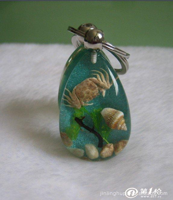琥珀海马项链 海星琥珀项链 昆虫琥珀吊坠 旅游纪念 项链批发