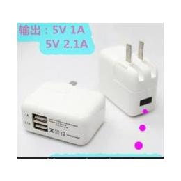 双usb手机充电器 欧规充电器5V2A 充电插头 旅行便携直充电头批发