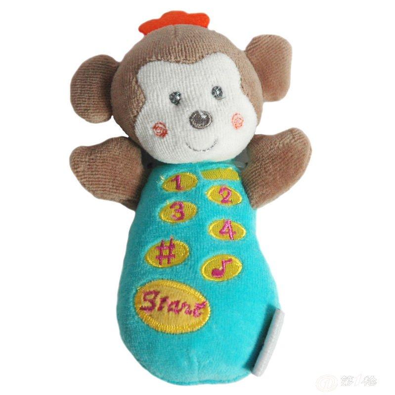 供应西玛安抚玩偶 手机动物 宝宝益智早教启蒙玩具 摇铃