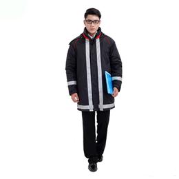 厂家定做工程服防寒棉袄 中长冬季劳保服定制 冬工装