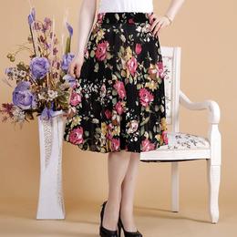 神农架厂家一手服装货源中老年冰丝短裙修身显瘦跳舞专用裙子