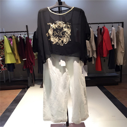 品素16夏 品牌女装折扣尾货库存走份批发 一线品牌女装