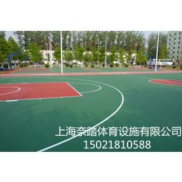 商丘塑胶篮球场铺设材料