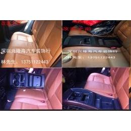 宝马X6后排座椅水杯架改装坐3个人,深圳兴隆海汽车装饰行