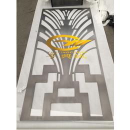 不锈钢精品雪拉丝8K玫瑰金镂空花格屏风厂家直销