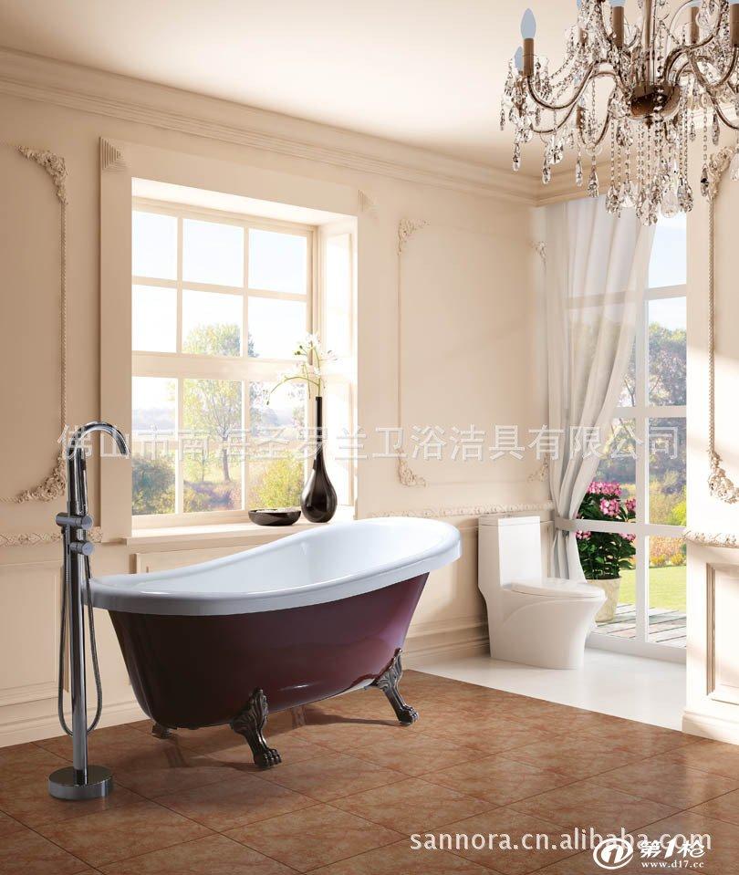 供应古典豪华贵妃缸 欧式浴缸 独立浴缸 狮子脚浴缸