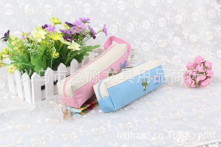 淘宝热卖 广告笔袋 女孩笔袋 创意韩版文具大容量笔袋