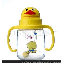 供应<em>杯子</em> 动物头形状塑料<em>儿童</em>吸水杯