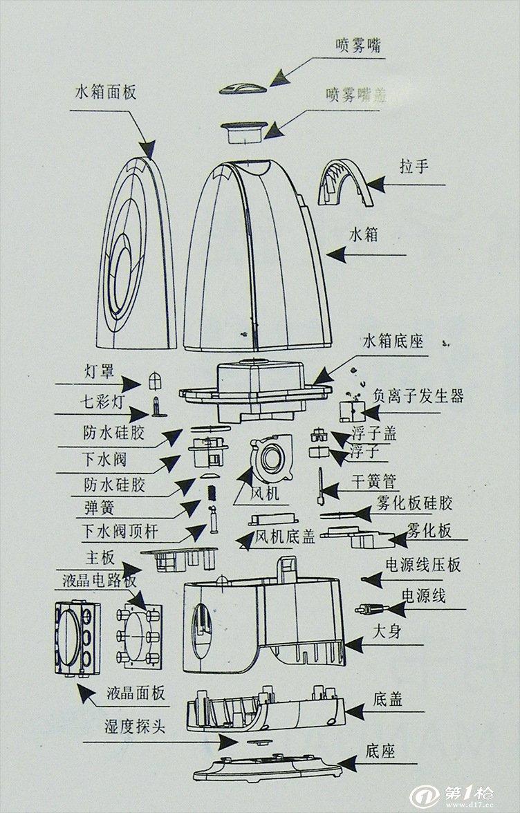 空气加湿器厂家批发 负离子液晶显示 定时恒湿双喷头