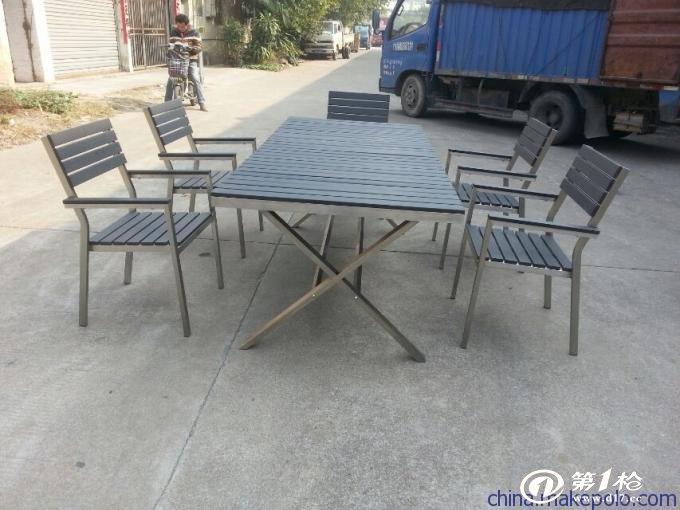 室内园林休闲家具塑木桌椅配套组合   ps型材产品广泛用于建筑建材,园