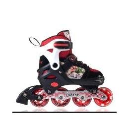 闪光单直排轮滑鞋 伸缩可调耐磨儿童溜冰鞋 旱冰鞋ABEC-7厂家批发
