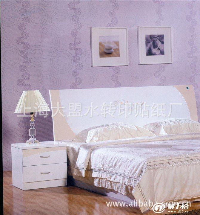欧式床头柜贴花 法式古典床头柜水转印纸
