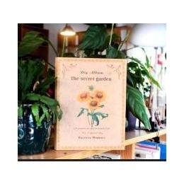 韩国文具批发 新款创意 DIY手工神秘园系列相册之向日葵款