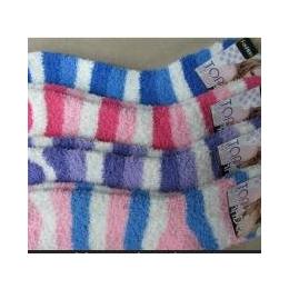 供应毛绒袜 条纹半边绒袜子批发 运动袜批发 厂家批发