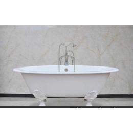 独立式铸铁浴缸 圆形搪瓷盆 爪形足 亚博国际版