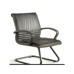 BR06办公家具,黑色透气皮会议椅