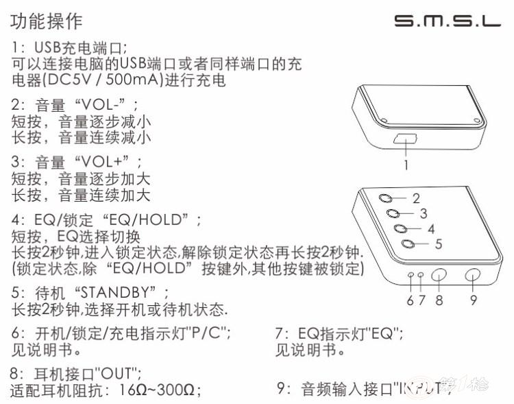 耳放 便携式耳放 双木三林 sap-7