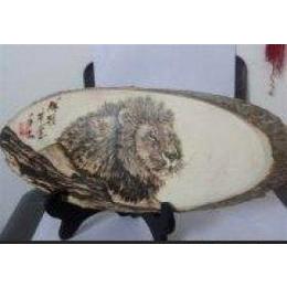 圆木片 杨木板 烙画板 白板 杨木切片 椭圆木片 树片图片