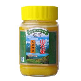 天山花开蜂蜜 黑蜂500g 结晶蜜 特产 蜂蜜批发
