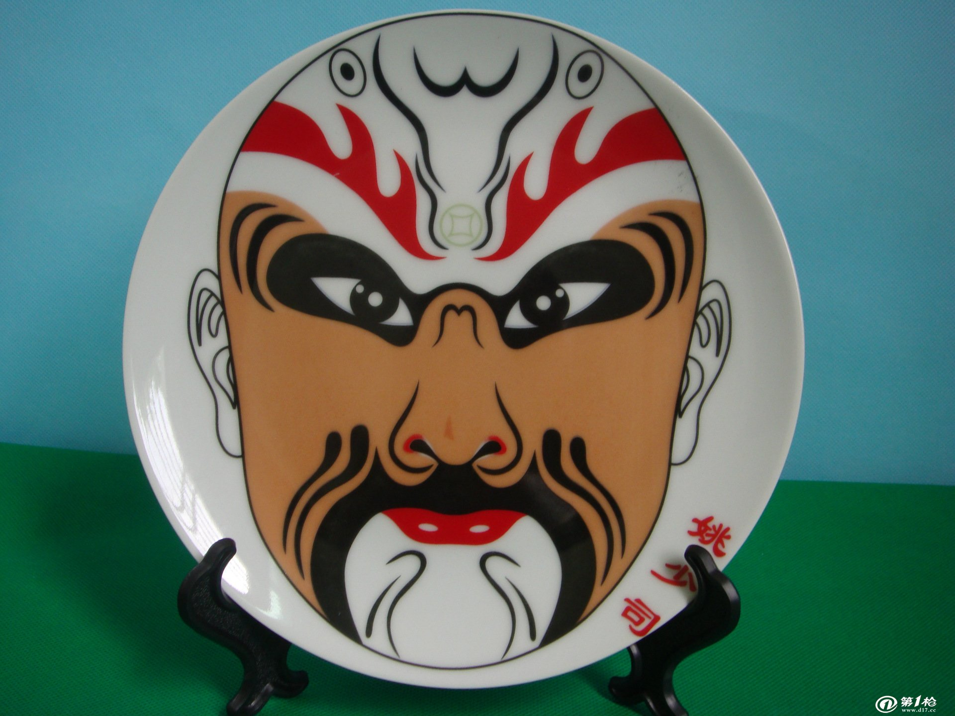 8寸脸谱挂盘装饰盘墙壁挂饰品现代装饰瓷器盘子