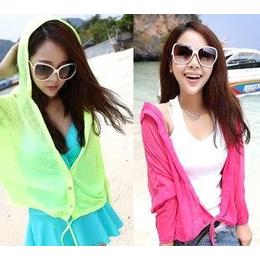 夏装新品 防晒衫 防晒衣 防晒服 开衫外套 短外套 韩版女装 女