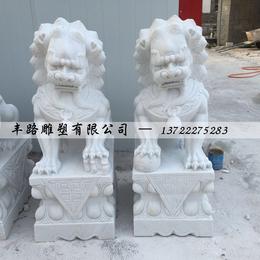 汉白玉石狮子报价 丰路石雕厂