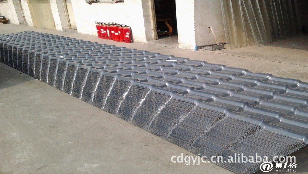 大量批发供应四川成都合成树脂瓦及树脂瓦配件 正脊瓦,吊檐口