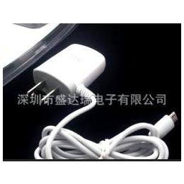 <em>htc</em><em>手机充电器</em> AC电源 带线直充100-240V 白色美规充电器