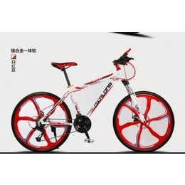 狄卡龙镁合金一体轮山地自行车 男女上下班单车26寸油刹自行车