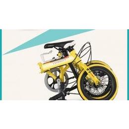 泰玛珑T1双碟刹14寸变速折叠自行车