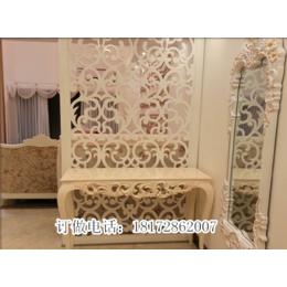 欧中式镂空雕花板实木雕刻隔断背景墙屏风订做批发缩略图