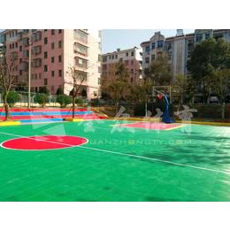 全众体育篮球场悬浮式拼装地板I聚丙烯材料耐磨拼装地板