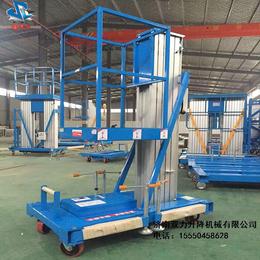 济南双力铝合金移动式升降平台单柱6米移动升降机货梯升降机