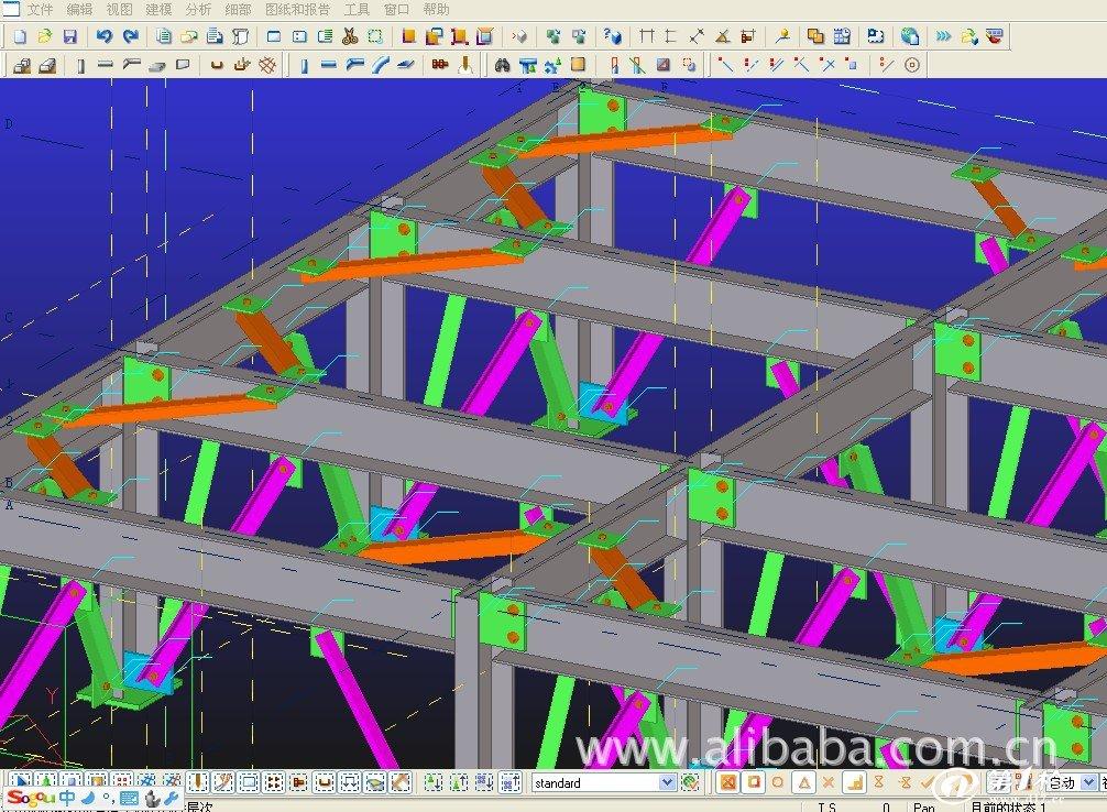 热销钢结构详图设计出图