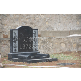 芝麻白654组合套碑 曲阳石雕 艺术墓碑