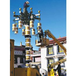 藏式太阳能路灯厂家新炎光LED藏式转经筒风格太阳能路灯景观灯