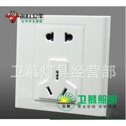 上海批发正品公牛墙壁防雷开关插座G05Z225多功能5孔10A五眼插座缩略图