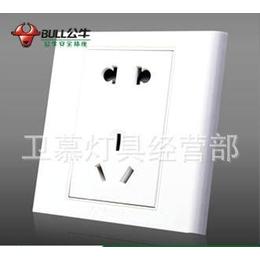 上海泗泾五金城批发公牛开关G05Z223五孔墙壁插座10A二三孔缩略图