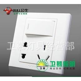 上海批发正品公牛G06E334一开五孔10A双控带荧光墙壁开关插座缩略图