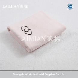 星级酒店毛巾套装 32S进口棉粉色纯棉浴巾 绣logo沙发巾