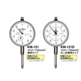 日本teclock得乐指针式百分表 高精度进口KM-121
