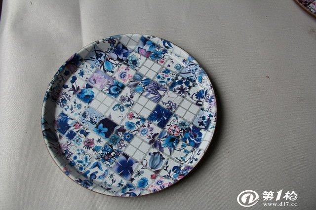 优质推荐供应经久耐用西式塑料带花纹圆形托盘 酒店快餐盘