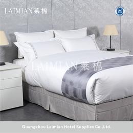 2017酒店布草 银灰色色织 纯棉星级酒店床上用品四件套